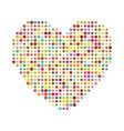 various multicolored dots heart magenta cyan vector image vector image
