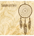 Vintage background with dream catcher vector image vector image