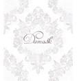 vintage damask ornamented pattern vector image vector image