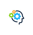 wheel brain logo icon design vector image