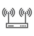wifi router line icon electronic and network vector image vector image