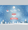winter season with snowflake and santa vector image