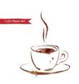 A cup of espresso vector image vector image