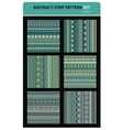 Abstract strip pattern set Greens colors vector image vector image