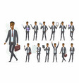 african businessman - cartoon people vector image