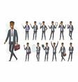 african businessman - cartoon people vector image vector image