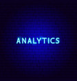 analytics neon text vector image