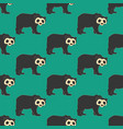 bear seamless pattern vector image vector image