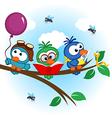 birds on tree reads eats on balloon vector image vector image