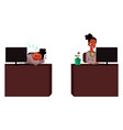 black african businesswoman secretary working vector image vector image