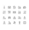 brewer line icons signs set outline vector image vector image