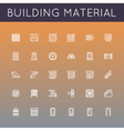 Building Material Line Icons