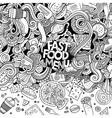cartoon doodles fast food frame design