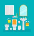 ceramic toilet interior in vector image