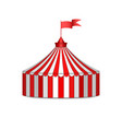 circus tent isolated on white background round vector image