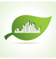 cityscape at leaf vector image