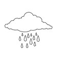 cloud sky silhouette with rain drops vector image