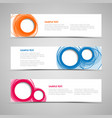 collection banners with colorful abstract circles vector image vector image