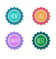 color sale stickers collection labels set vector image vector image