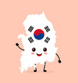 cute funny smiling happy south korea vector image vector image