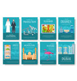 dubai brochure cards set country template vector image vector image