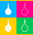 enema sign four styles of icon on four color vector image