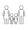 family icon design vector image vector image