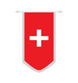 flag of switzerland on a banner vector image vector image