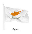 flag republic cyprus vector image