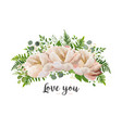 flower bouquet design element with peach peonies vector image vector image
