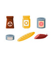 food icons set packaging of coffee biscuits vector image