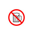 forbidden beer icon can be used for web logo vector image
