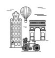 france paris architecture vector image vector image