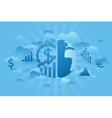 Global economics blue vector image vector image