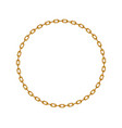 golden chain in shape of circle vector image vector image