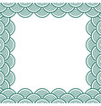 green teal traditional wave japanese chinese vector image