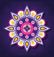 happy diwali festival of lights with mandala vector image
