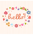 Hello Bright and stylish text on a strip vector image vector image