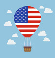 hot air balloon with usa flag vector image vector image