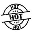 hot round grunge black stamp vector image vector image