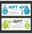 Laundry Service Gift vouchers vector image vector image