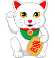 maneki neko japanese prosperity cat vector image