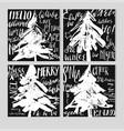merry christmas christmas calligraphy vector image vector image