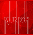 munich city name vector image vector image