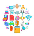 net icons set cartoon style vector image vector image