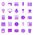 office gradient icons on white background vector image vector image