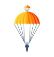 Parachute fly vector image vector image