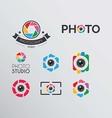 Photo logos vector image