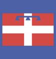 piedmont flag vector image