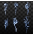 Realistic Cigarette Smoke Set vector image